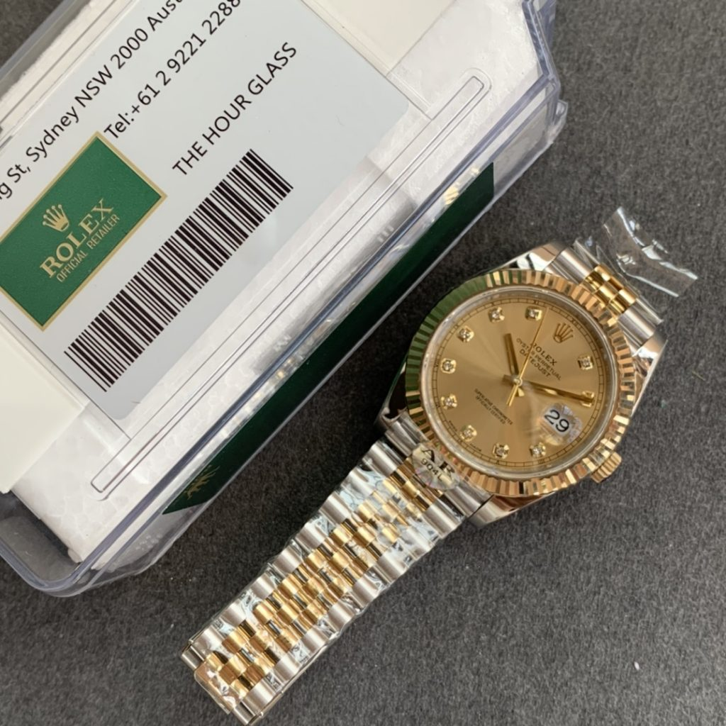 AR Factory Published Two Golden 41mm Datejust Rolex Watches