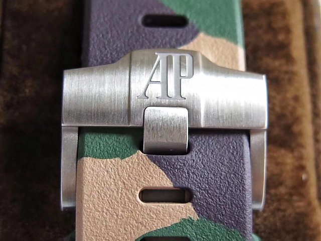 J12 Factory V2 Edition Replica Audemars Piguet ROO 2018 Combat Green Ceramic Watch with Clone 3126 Movement
