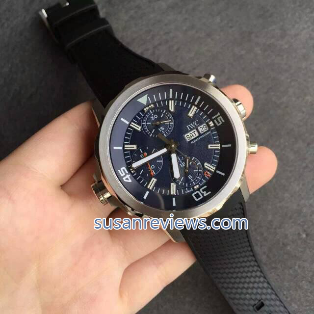Replica IWC Jaques Yves Cousteau IW376805 Blue Dial with Valjoux 7750 Movement