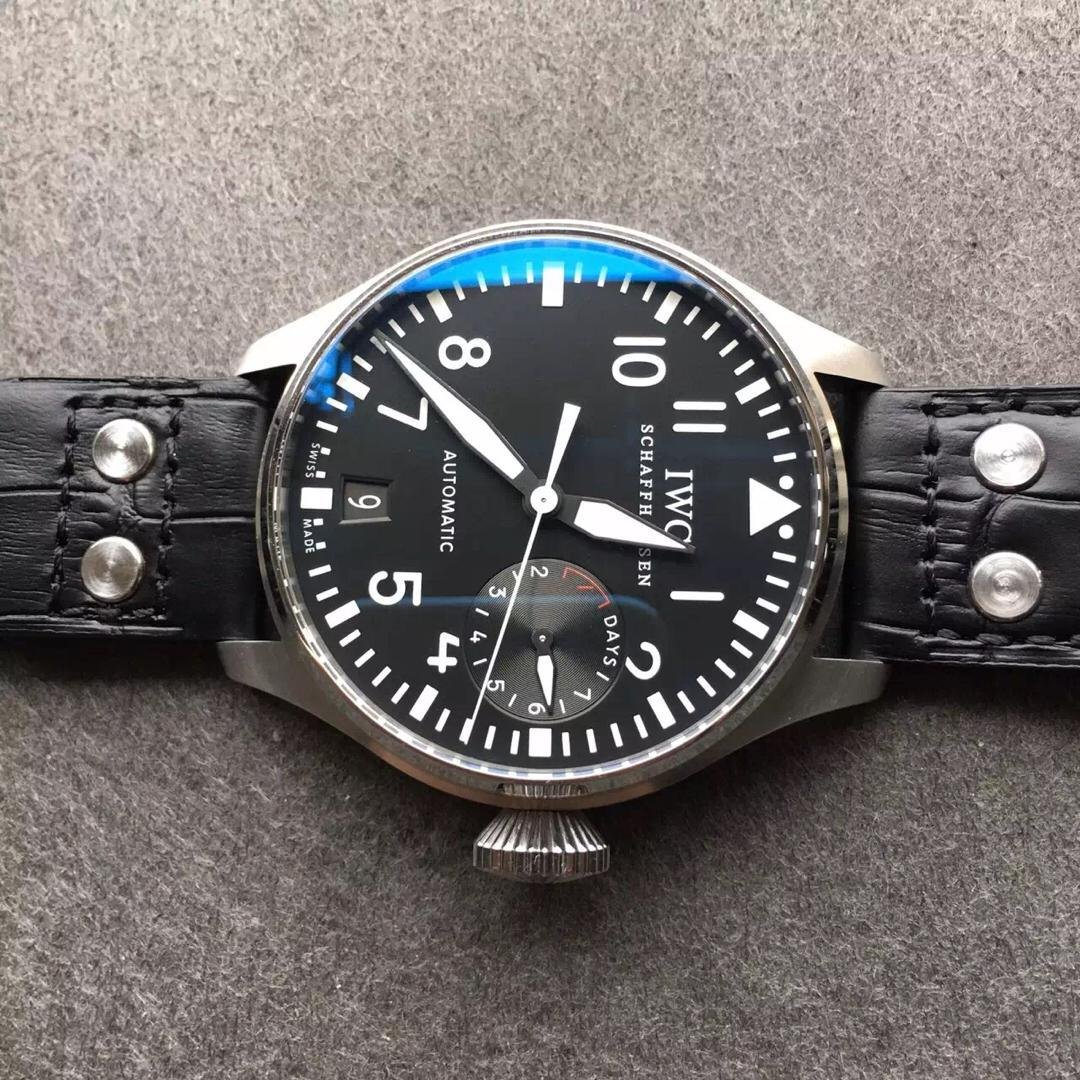 Z Factory Published IWC Big Pilot IW500901 Replica Watch with Real Power Reserve