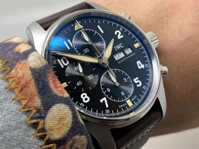 Z Factory Replica IWC Spitfire IW387903 with Brown Leather Strap
