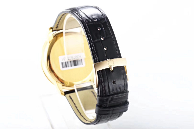 Omega De Ville Black Leather Strap