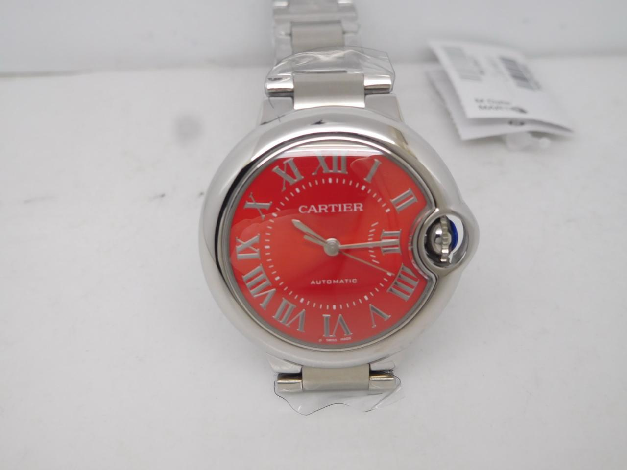 Replica Cartier Ballon Bleu 33mm Red