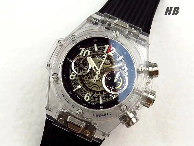Replica Hublot Unico Transparent
