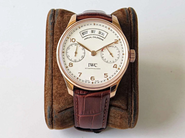 Replica IWC Portuguese Annual Calendar Rose Gold