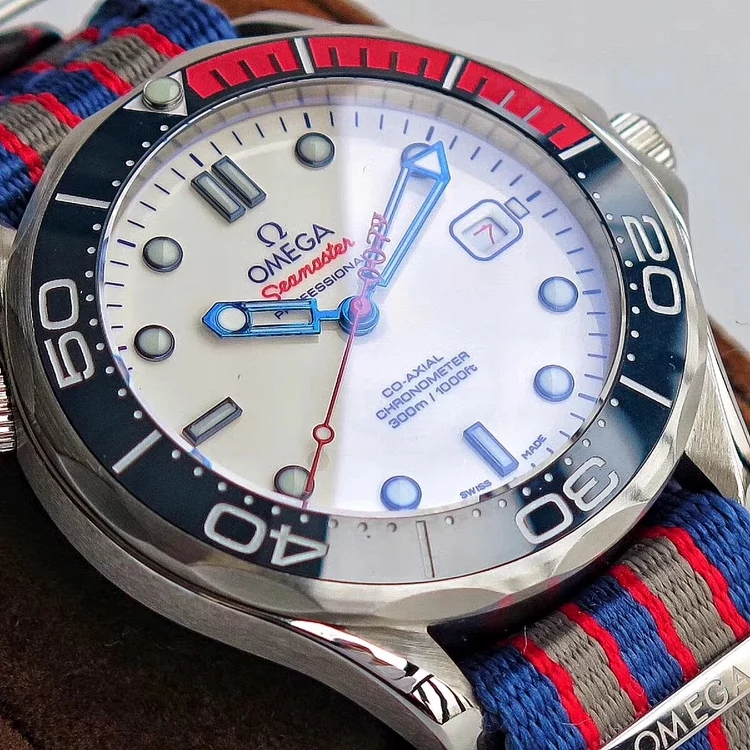 Replica Omega Commander Blue Red Bezel