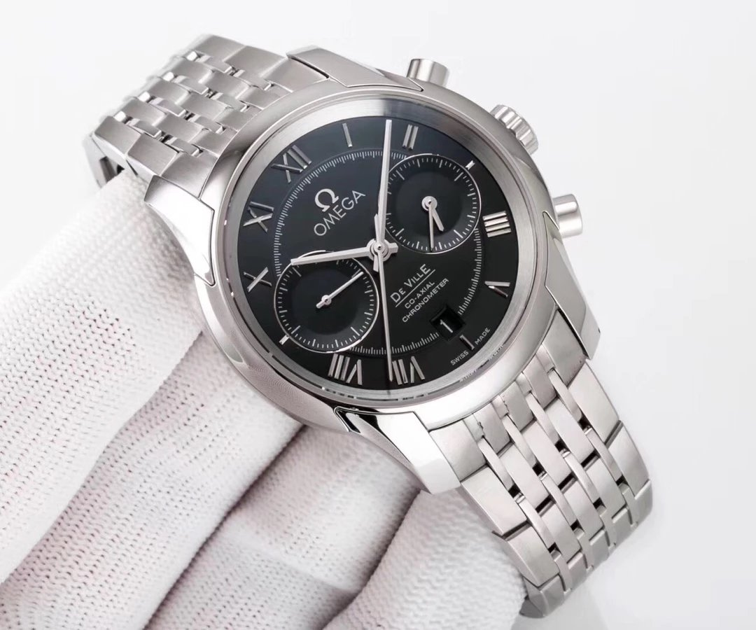 Replica Omega De Ville Stainless Steel Watch