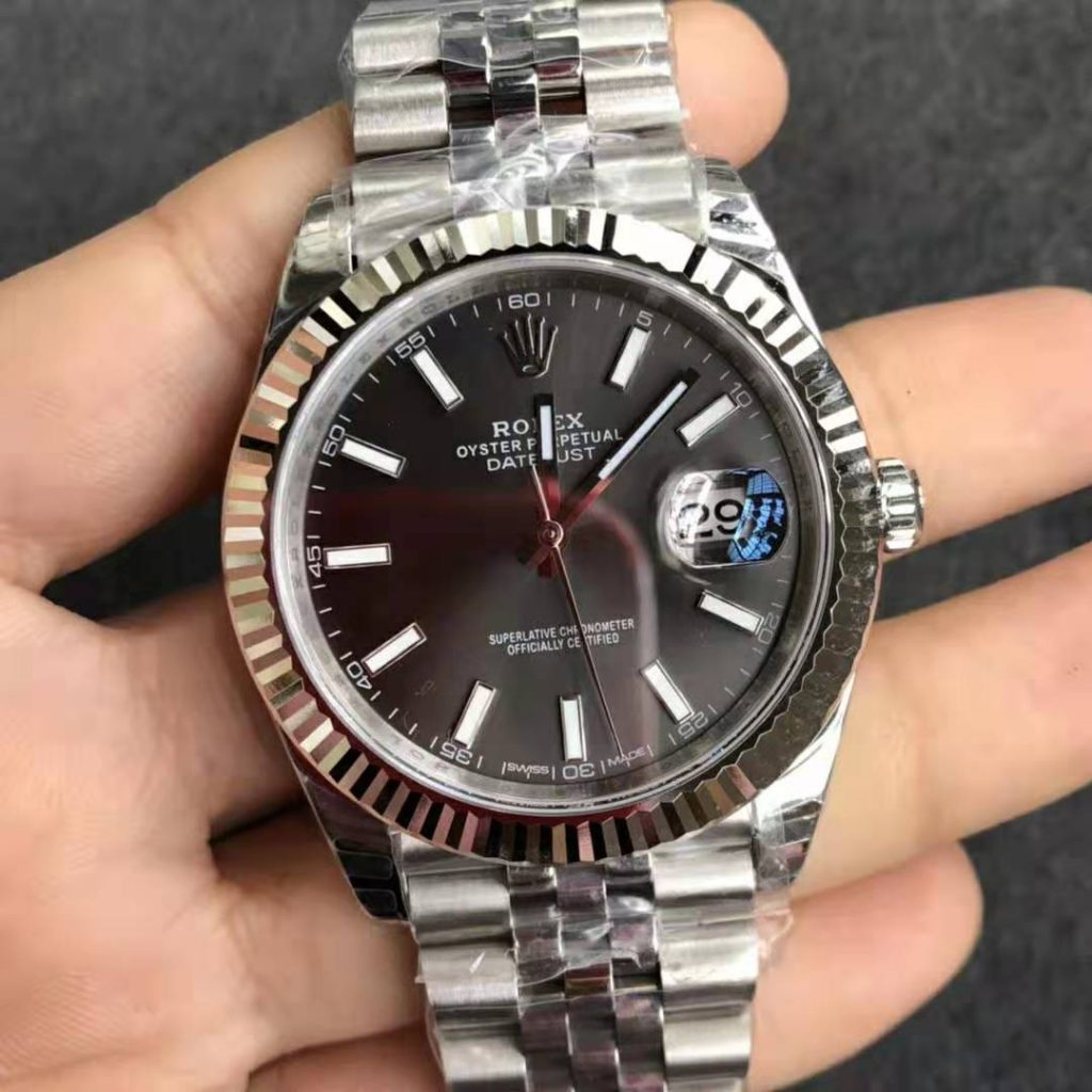 Replica Rolex Datejust 41mm Grey 126334