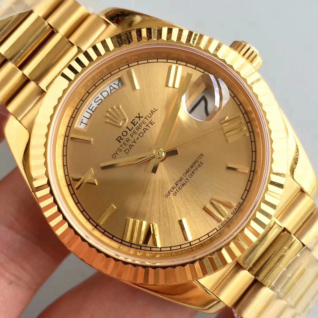 Replica Rolex Day Date Gold Dial