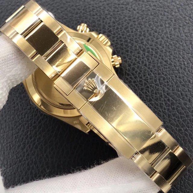 Replica Rolex Daytona Yellow Gold Bracelet