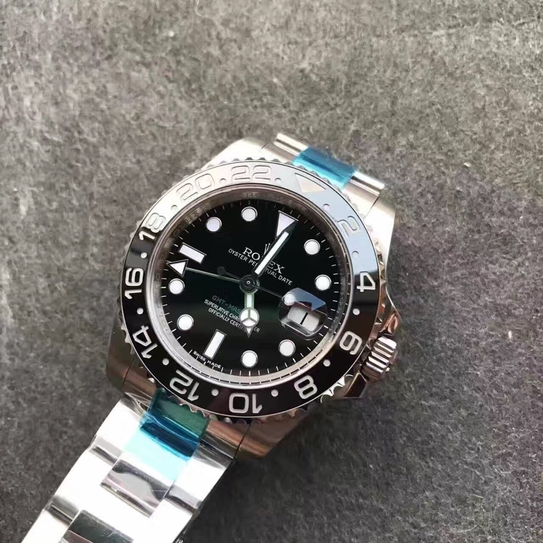 Replica Rolex GMT Master II Black Dial