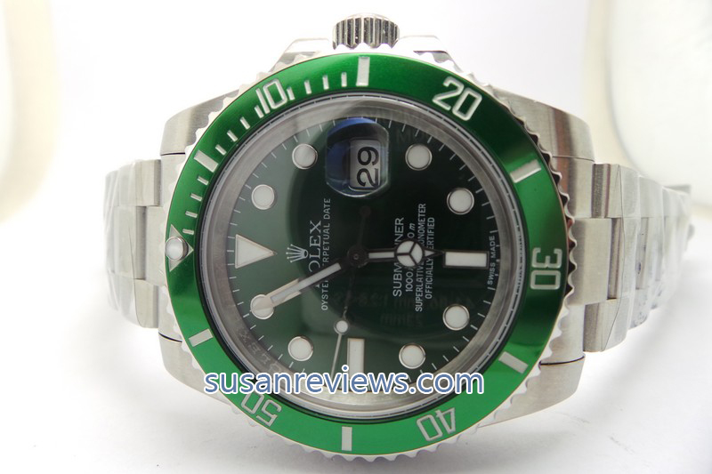 Replica Rolex Submariner 116610LV Green Dial