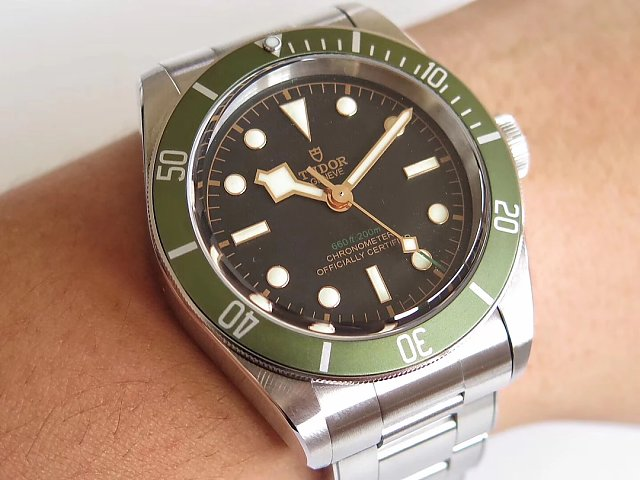Replica Tudor Heritage Black Bay Shield Green Watch Made by Z Factory