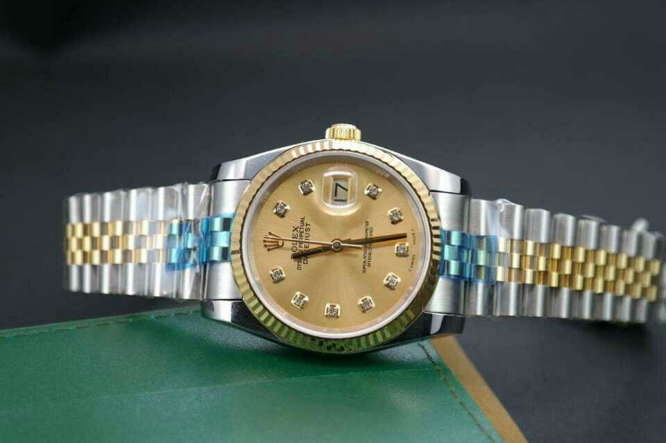 Replica Rolex 36mm Datejust 116233 Champagne Gold Watch Review