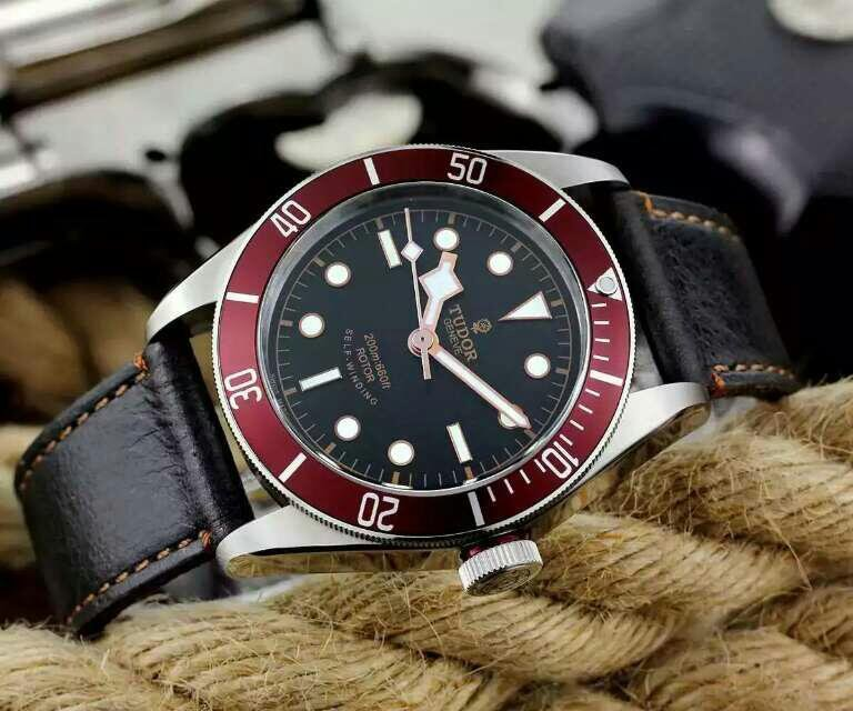 Tudor 79220R Black Leather