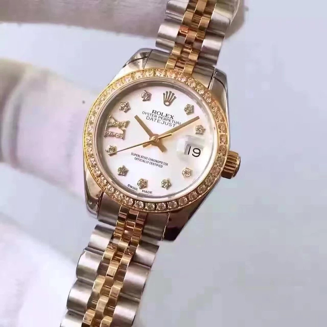 Two Tone Rolex Datejust Diamond Replica Watch