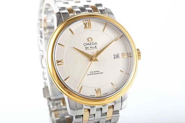 Two Tone Yellow Gold Omega Watch 1